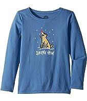 Life is Good Kids - Shine ON Rocket Long Sleeve Crusher Tee (Little Kids/Big Kids)