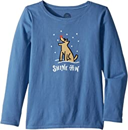 Shine ON Rocket Long Sleeve Crusher Tee (Little Kids/Big Kids)