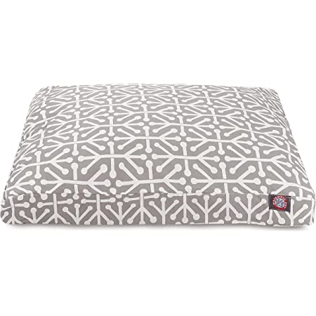 Gray Aruba Large Rectangle Indoor Outdoor Pet Dog Bed With Removable Washable Cover By Majestic Pet Products