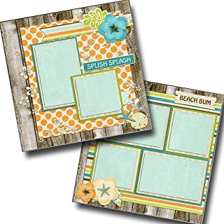 Beachy - Premade Scrapbook Pages - EZ Layout 669