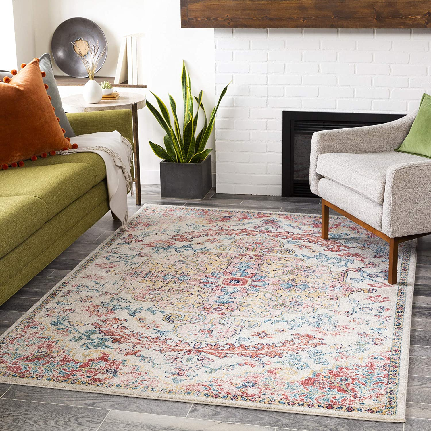 Artistic Weavers Odelia Daily bargain sale Vintage Bohemian Area Feet 7 Rug We OFFer at cheap prices 10 Inc