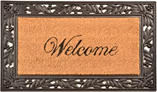 """NoTrax, Welcome, Rubber-Backed Natural Coir Doormat, Entry Mat for Indoor or Outdoor Use, 18""""x30"""", C04 (C04S1830WL)"""