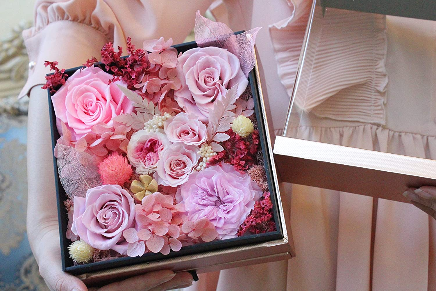 Preserved Flower Arrangement Box with Drawe low-pricing Acrylic Store
