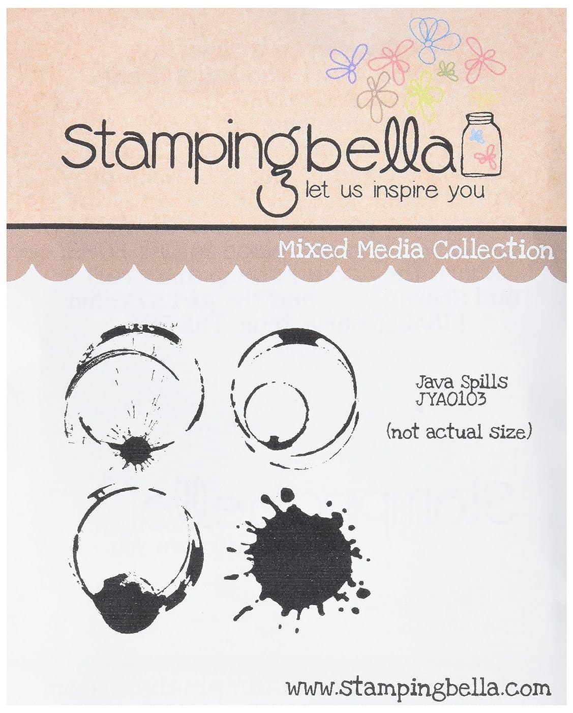 Stamping Bella Java Spills Cling Rubber Stamp, 6.5
