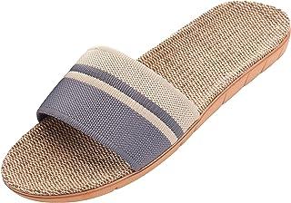 Unisex Cozy Linen Summer Skidproof Indoor Slippers