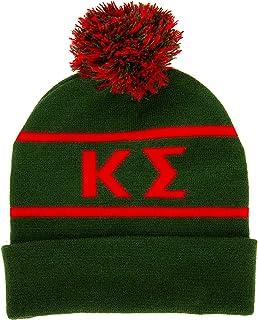 Kappa Sigma Letter Winter Beanie Hat Greek Cold Weather Winter Kappa Sig