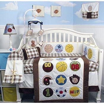 SoHo Baby Crib Bedding 10Pc Set, Athlete