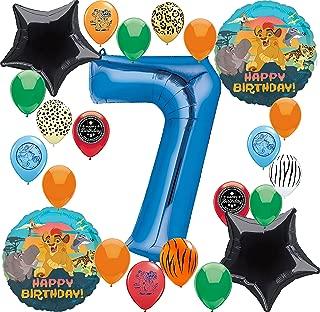 Lion Guard Party Supplies Happy Birthday Balloon Decoration Bundle (7th Birthday)
