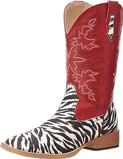 Roper Women's Zebra Glitter Riding Boot