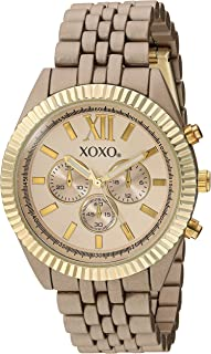 XOXO Womens Quartz Watch, Analog Display and Gold Plated Strap XO250
