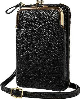S&I JAPAN スマホポーチ ショルダーバッグ レディース 財布 お財布ポシェット ななめがけバッグ iPhoneケース手帳型 散歩用 旅行用バッグ かわいい シンプル