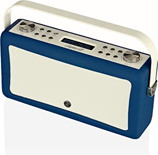 VQ Hepburn Mk II DAB & DAB+ Digital Radio with FM, AM, Bluetooth & Alarm Clock – Navy Blue, (VQ-HEPMKII-NB/AUS)
