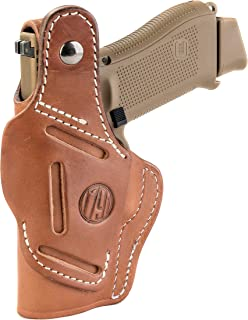 1791 GUNLEATHER Leather Gun Holster - 3 Way OWB Right Handed Thumb Break Holster - Fits Glock 17 19 22 23 32, Ruger SR9 SR22, Sig P225 P299, SW MP9 MP40, Taurus G2 (BHT-3)
