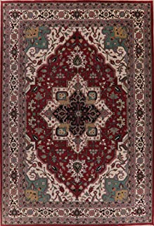 12x17 Geometric Heriz Serapi Oriental Rug Large Living Room Hand-Knotted Carpet (17' 4'' x 11' 10'')