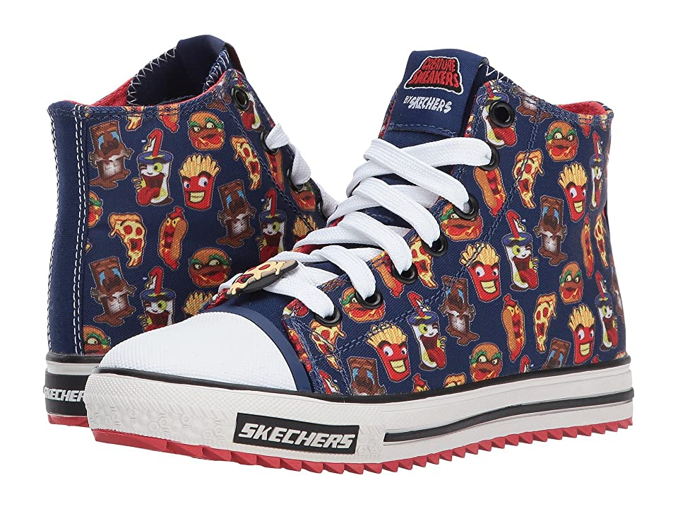 SKECHERS KIDS Jagged Food Brawl 93792L (Little Kid/Big Kid) (Navy/Red) Boy