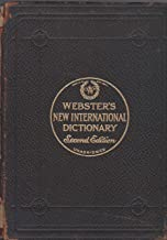 Webster's New International Unabridged Dictionary Second Edition India Paper Full Leather