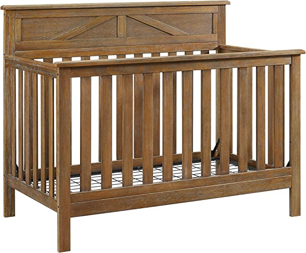 Baby Relax Hathaway 5 In 1 Convertible Crib Rustic Coffee