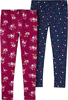 Pack of 5 Indistar Big Girls Cotton Full Ankle Length Solid Leggings -Multiple Colors-13-14Years