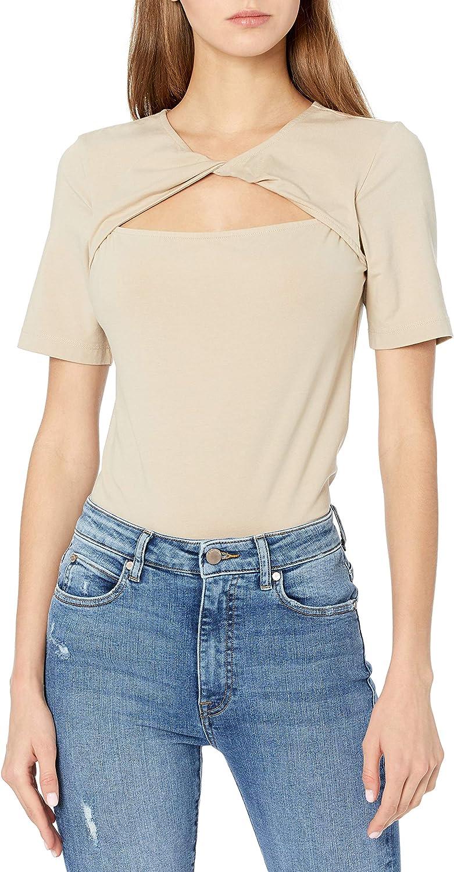 The Drop Women's Astrid Twist Front Stretch Jersey T-Shirt
