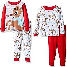 Rudolph Baby Boys 4-Piece Cotton Pajama Set