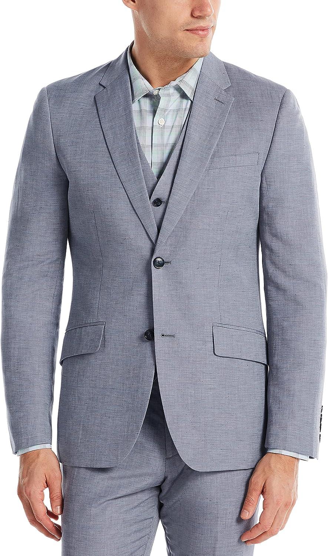 Perry Ellis Men's Slim Fit Linen Blend Textured Suit Jacket