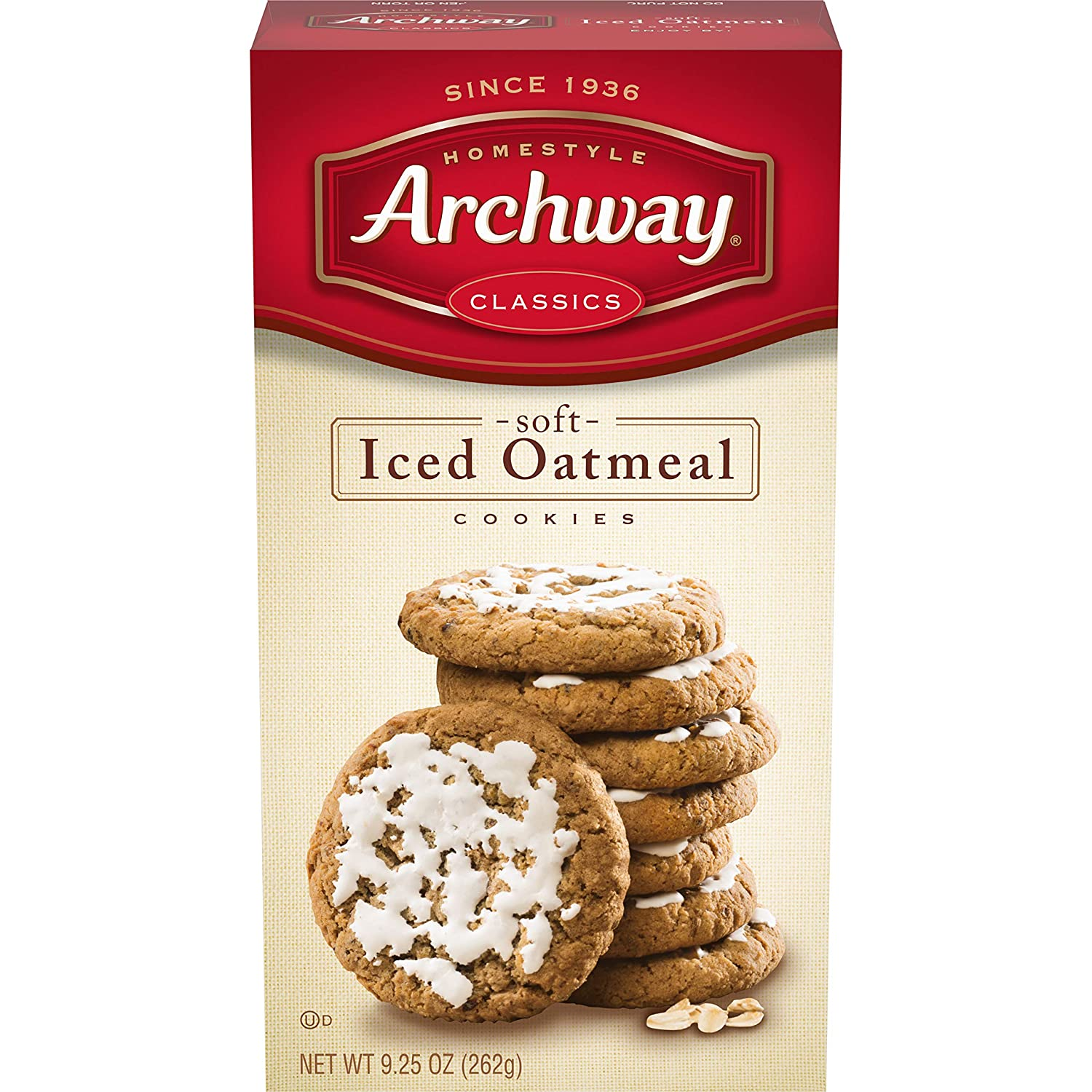 Archway Cookies, Iced Oatmeal Soft Cookies, 9.25 Ounce (Pack of 9)