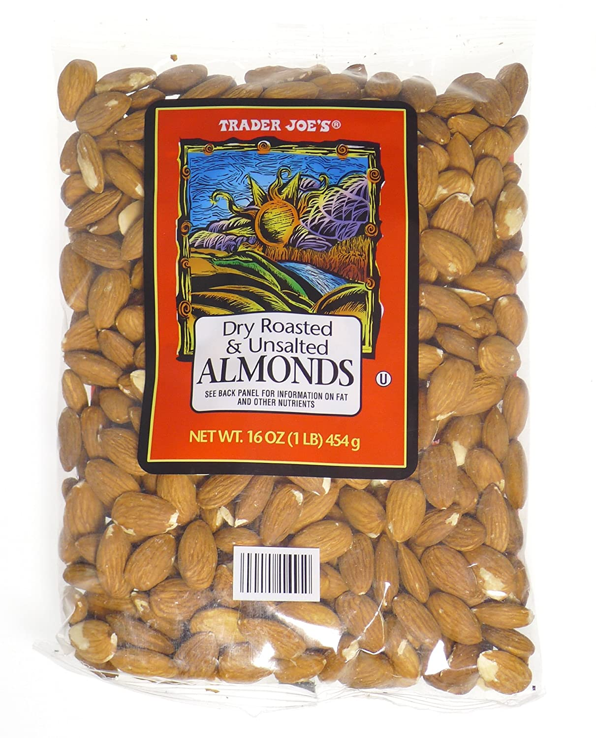 Trader Joe's Dry Roasted and Unsalted - Super beauty product restock 2021 spring and summer new quality top 1lb Almonds 4 Pack