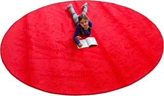 Learning Carpets CPR477 - Solid Red Round