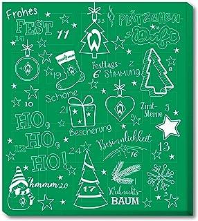 Werder Bremen Adventskalender, Weihnachtskalender mit Vereinsposter und Sticker Wir Leben Fußball  FAIRTRADE