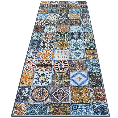 casa pura® Vintage Carpet Rug Runner for Hallway, Bonita 80x200cm | Non-Slip