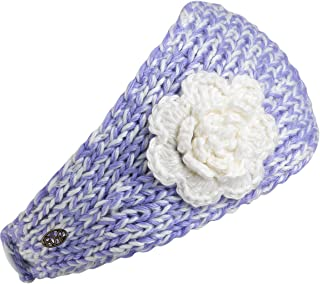 Turtle Fur Lifestyle - Women's Toaster, Fleece Lined Hand Knit Headband, Crystal,One Size