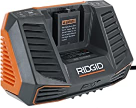 Ridgid R840095 Gen5X Genuine OEM Dual Chemistry Battery Charger for 18V lithium ion or NiCad batteries (Battery Not Included, Charger Only)(Renewed)