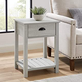 WE Furniture side table, Stone Grey