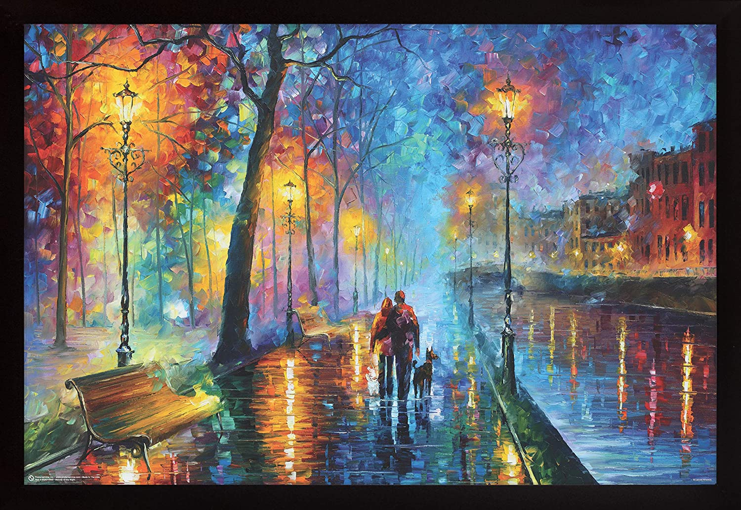 Frame USA Melody 25%OFF of The Night Black Leonid Poster Si Afremov by 通販 激安◆