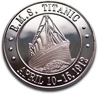 Titanic bañado en plata Beautyful moneda conmemorativa y regalo. Blanco Star Line Edición Aniversario romántico