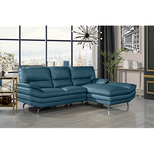 Blue Leather Sofa: Amazon.com