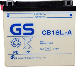 GS BATTERY - GS CB18LA with Acid Pack – High Performance Powersports Battery for YUASA YB18L-A Replacement… Fits Motorcycle and Generator applications
