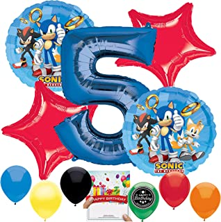 Sonic the Hedgehog Party Supplies Balloon Decoration Bundle for 5th Birthday