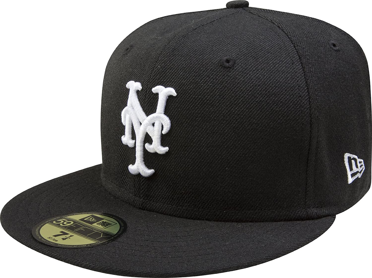 MLB New York Mets Seattle Mall Black with Cap Fitted White Luxury goods 59FIFTY