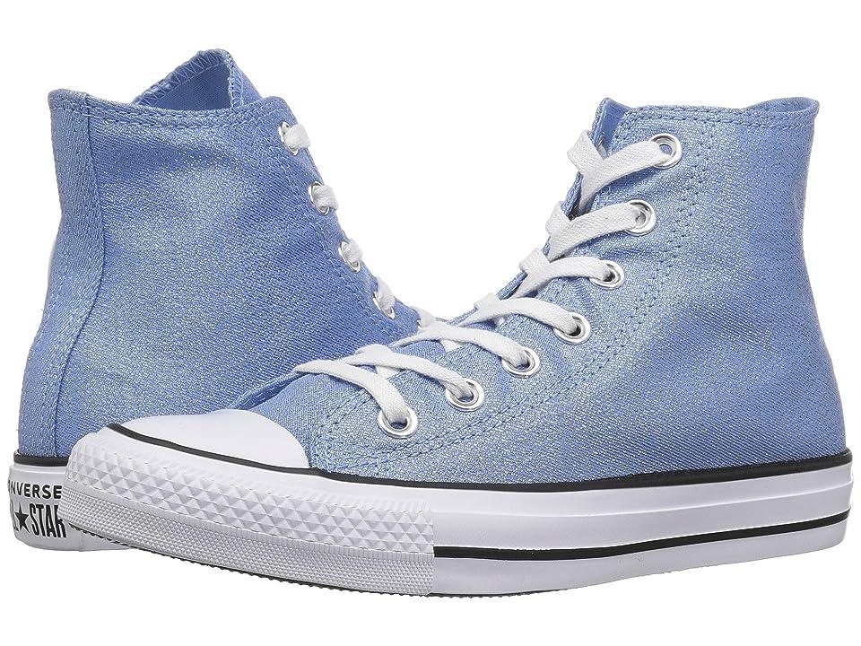 Converse Chuck Taylor All Star Precious Metals Textile Hi (Light Blue/White/Black) Women