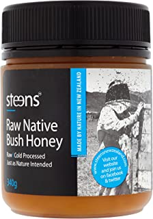 Steens Premium Native Bush Honey 12 Ounce jar | 100% Pure Raw Unpasteurized Honey From New Zealand (NZ)| Refined Sugar Alternative for Cooking, Baking & Drinks | Traceability Code on Each Label