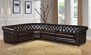 deep leather sectional