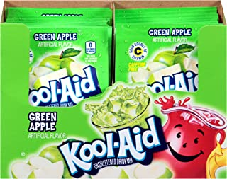 Kool Aid Green Apple Drink Mix, Makes 2 Quarts (0.22 oz Packets, Pack of 192)