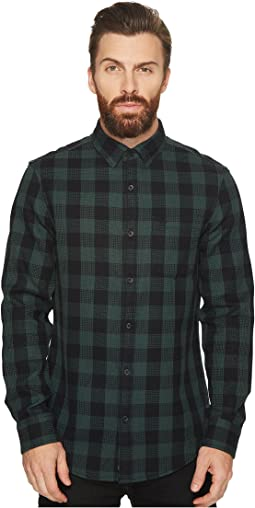 Original Penguin - Long Sleeve Waffle Buffalo Check Shirt