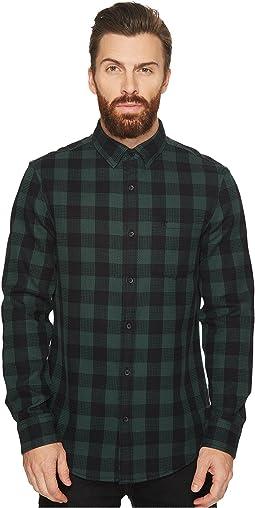 Original Penguin - Long Sleeve Waffle Buffalo Check Shirt