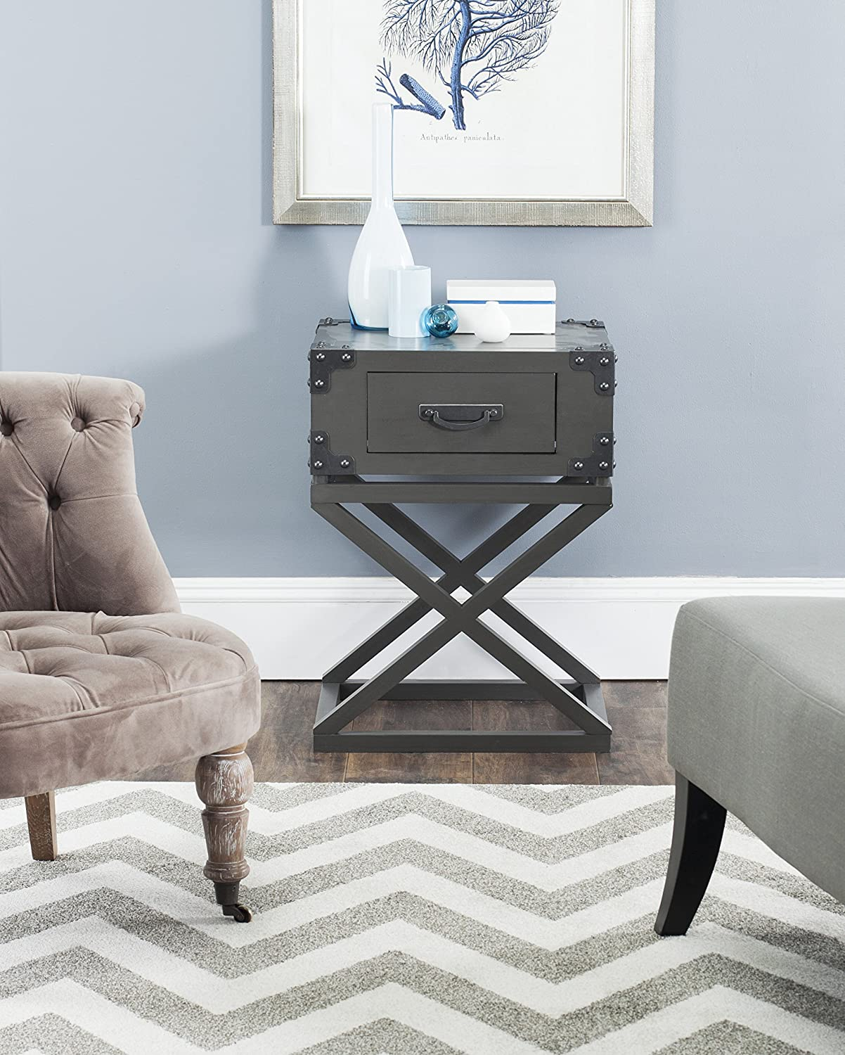 Safavieh American Homes Collection Dunstan Accent Table, Grey