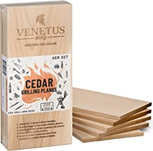 VENETUS-BBQ Grillbretter XL – Kanadisches Zedernholzbrett zum Grillen 6er Set
