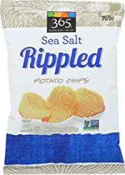 365 Everyday Value, Rippled Potato Chips, Sea Salt, 1.5 oz