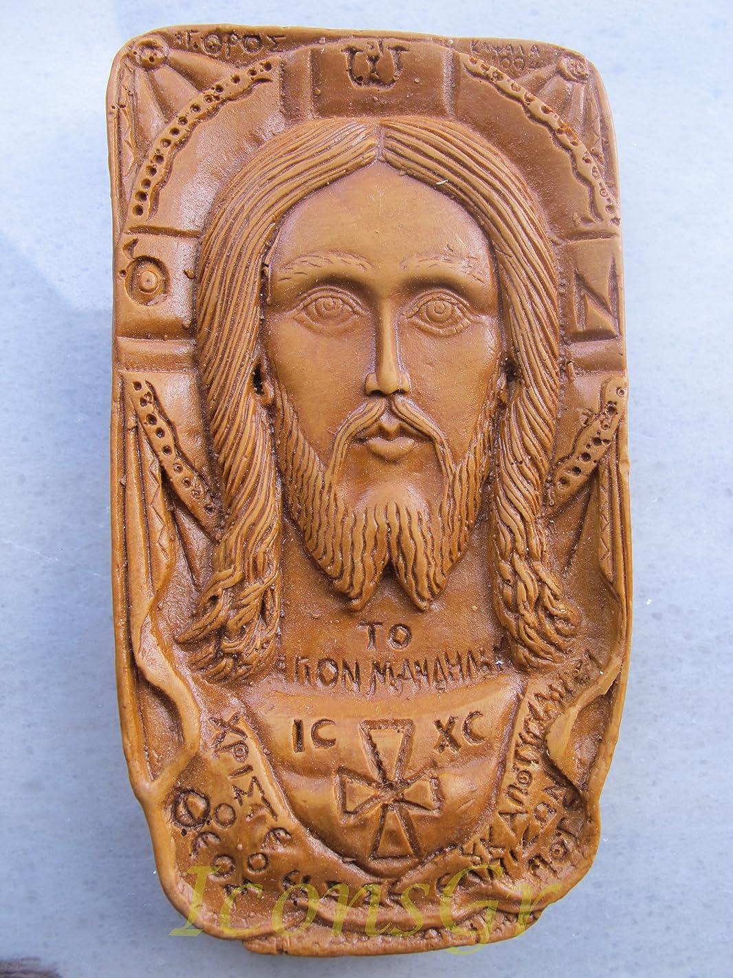 敵意大騒ぎ犯罪Handmade Carved Aromaticワックスから祝福アイコンアトスのマンディリオン125