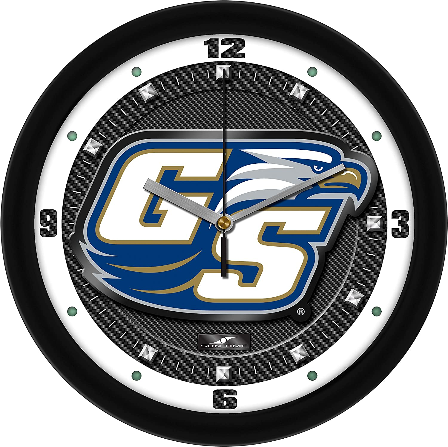 Georgia Southern Eagles - Carbon Wall Fiber Clock OFFicial mail Large discharge sale order Textured